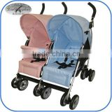 two seats popular cheap double twin baby stroller 3018T