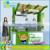 2015 Outdoor food carts stainless steel used food carts mobile food carts for sale with FREE DESIGN