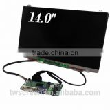 "14.0"" (1600 x 900) VGA, Led Backlight Tft Lcd laptop Module lcd with controller board kit"