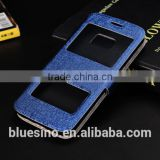 PU Leather Case For Samsung S5 With stand and multi-colour