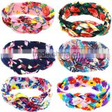Fashion Baby floral Headband Infant Headband Toddler turban Headband cotton kids knotted headband wh-1751