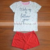 2015 wholesale new style girls new suit,Tshirt and culottes Children suit,OEM kids clothes