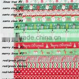 2014 Christmas FOE Fold Over Elastic Ribbon For Hair Ties -Elastic hair bands-hair tie -headband