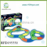 Super cool track racing car b/o mini luminous rail car toy