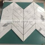 Competitive prices Bianco Carrara White Marble Mosaic for bathroom tile and Wall Tile