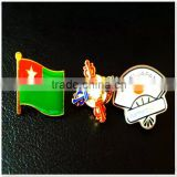 Round die casting metal pin badge for sale