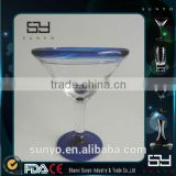 High Quality Handmade Crystal Goblet Cobalt Blue Roots Martini Glass