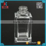 20ml mini small square empty clear glass serum essential oil dropper bottles/jars with glass pipette