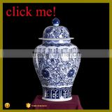 Jingdezhen Antique and traditional blue and white ginger jar with lid porcelain jar