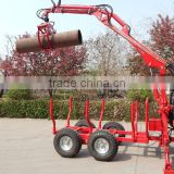 Hot sale!CE Approved 1ton Atv Log Trailer with crane for timber