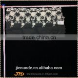 New Products Hot Sell Fashion Water Soluble Organza Knitted Nylon French Border Lace Trimming