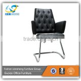 high back black leather executive bride chrome steel base office chair GAC024