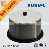 RISHENG bd-r 50gb cmc 50cake package/ blank 50gb 6x bluray disc printable/blank disc bd-r recordable 50gb
