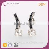 E73348K17 Silver Plated Fast Sale Women Studs Guitar Earring Anim Sex Famous Brand White And Black Rectangle Rhinestone Earring