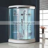 2016 infrared portable wet steam sauna One Person Glass steam room