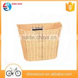cheap natural cane bike bicycle basket/storage bike basket with quick release bracket