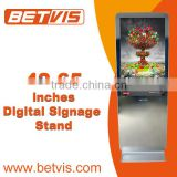 Highly stable mirror digital signage floor stand player