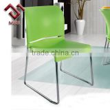 Metal Legs Comfortable Colorful Plastic Sled Chair