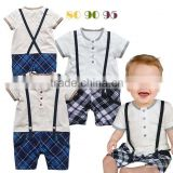 Gentleman Romper Kids Climb Clothes Fashion One Piece Clothing Infant Wear Baby One Piece Romper Boys RR40411-3