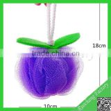 Best quality 50g Colorful Pumpkin PE Bath Mesh Sponge