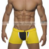 Top Quality fashion sexy lycra swimwear men ZIP BOXER AD035