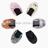 Print Your Own Logo On The Special Customized Wedding Gift Folding Ballet Flat Shoes                                                                         Quality Choice