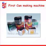 silver metal paint oil rectangle tin cans machine