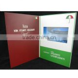 Cheap products video advertisement booklet made in china