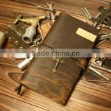 L351 Cute stationery leather new notebook,leather mini notebook,leather manager notebook with zipper