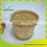 Round natural bamboo woven mini basket
