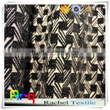 black and white curtain fabric- chenille polyester blend geometry design blackout hotel home use