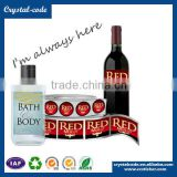 Offer printing UV varnishing full color deep-freeze wine label