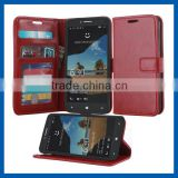 C&T Magnetic Leather Folio Flip Book Wallet Pouch Case Cover for Alcatel One Touch Fierce XL