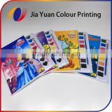 Cover full color printed paint books for kids with colour water brush