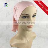 New Style Elastic Muslim Solid color Head Scarf Plain Hijab Inner Neck Tube Cap Bonnet Islamic Malaysia Hat Wraps