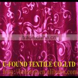 HIGH QUALITY EXPORT 100%POLYESTER WARP KNITTING JACQUARD SHINNY WARP KOREA VELVET,WARP KNITTED PLAIN DYED EMBOSSED VELVET FABRIC