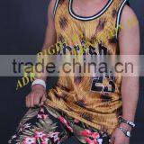 Skin sublimation printed/ cutom basketball jersey