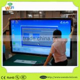 55inch Wall Mount LCD Display Network Digital signage Touch Totem With Android os touch Panel