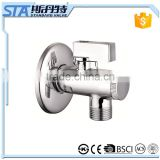 "ART.3005 1/2""x1/2"" 1/2""x3/8"" Chrome plating lockable ball valve with thread material CW511L high quality angle valve with ISO"