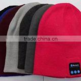 Wholesale bluetooth headphone beanie hat, knitted wireless bluetooth earphone winter warm hat
