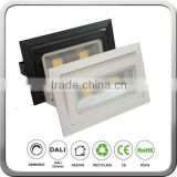 wholesale rectangular led shop light Retrofit recessed LED downlight adjustable replace HID