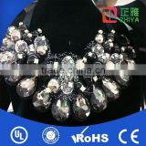 female models Diamond necklace color full diamond gemstone shock collar for humans