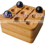 Traditional Quality Wood Tic Tac Toe Desk Office Game