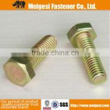 China Supplier high qality good price steel standard normal size grade 4.8 steel hex bolt