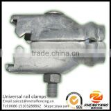China manufacturer chain link fence post accessories assorted fence fittings hot dip galvanized universal rail clamps