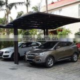 Huixin widely used new-style carports for sale(made of solid PC sheet and Aluminium) HX115