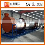 Small capacity 600 kg/hour drying coco peat machine/coir pith rotary dryer professional supplier