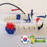 2017 Hot new bestselling product wholesale alibaba Unique Handmade South Korean flag Knot Knotted Bracelet made in China