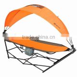 Outdoor Furniture with Frame Stand with Cover 296x80x80cm Portable foldable hammock with stand