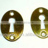 Satin Brass Door knob round back plates